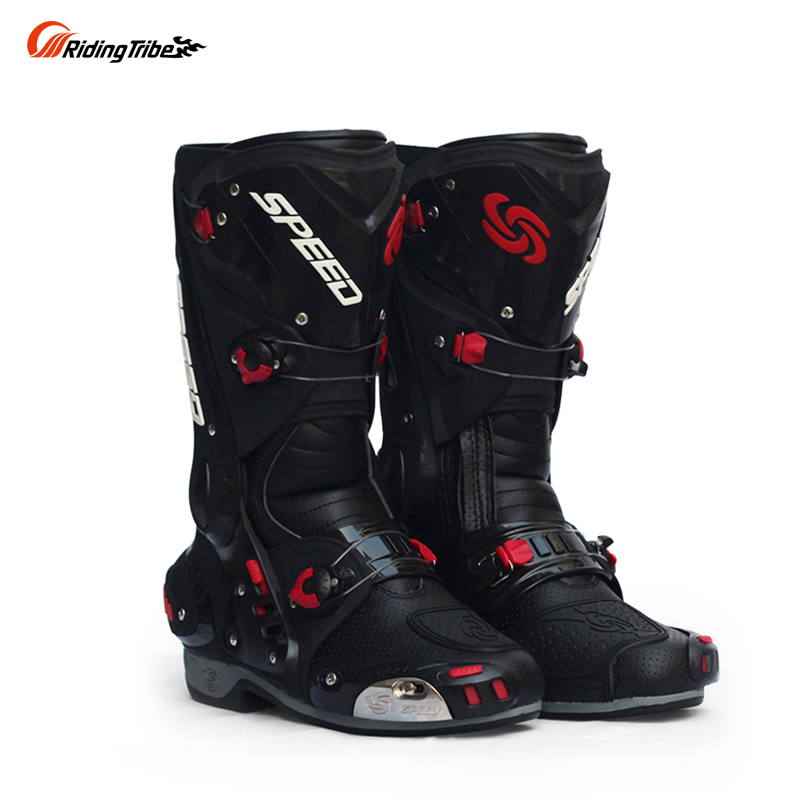 Men/'s Leather Boots Motorcycle Motorbike Riding Racing Cycling Protective Boots