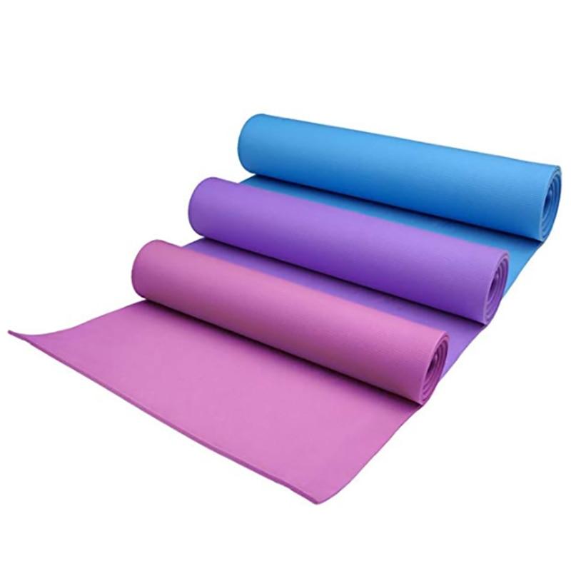 183 * 61 CM * 4 MM Yoga Mat Non-slip EVA Foam Yoga Pad Damp-proof Sleeping Mattress Mat For Pilates Fitness Workout Lose Weight