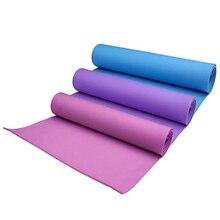 183*61 см * 4 мм коврик для йоги нескользящий EVA пены Подушечка для йоги влагостойкий спальный матрас коврик для фитнес, Пилатес тренировки похудение
