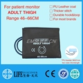 mindray blood pressure cuff  for patient monitor tpu medical bladder leather cuffs dual tube adult thigh size cuff