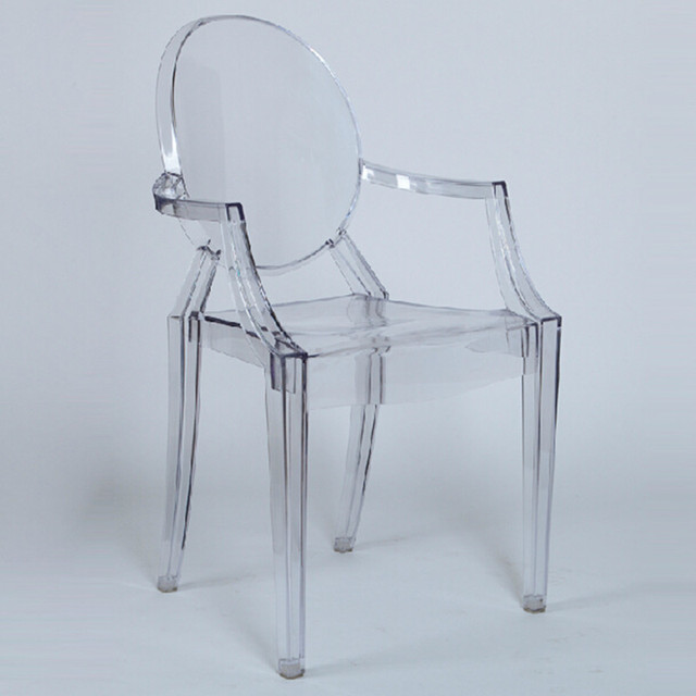 Moda Popular e cadeira de plástico transparente. Ma yun, Presidente de Alibaba tem vindo sentado na cadeira