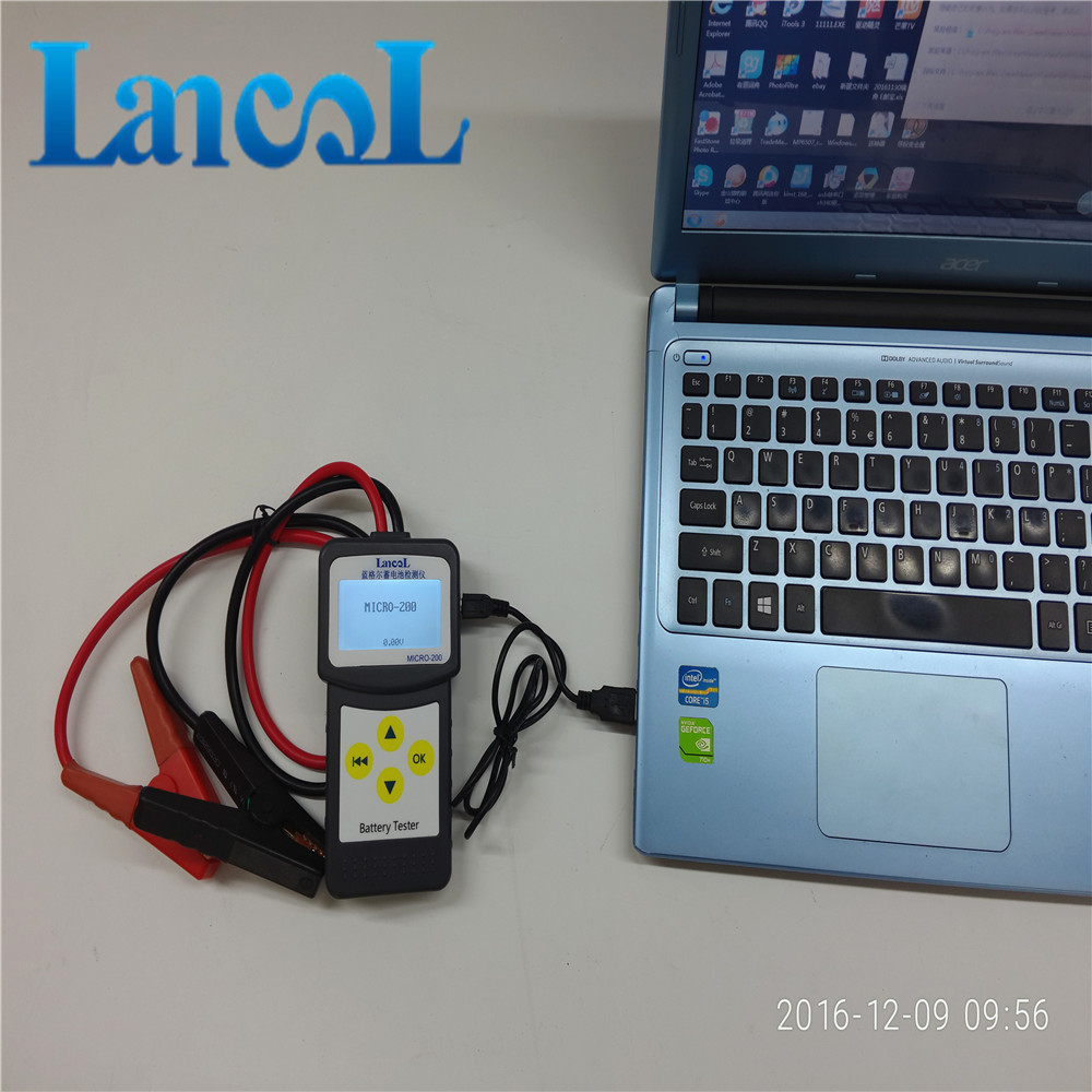LANCOL 12V CCA Digital Car Battery Tester Checker Automotive Battery Load Tester MICRO 200 with USB for Printing Multi language