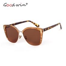 Good Win Fashion Sunglasses Luxury Brand Designer Women Sunglasses Cat Eye UV400 Mirror Cateye Sun Glasses For Women oculos