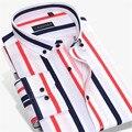 Men cotton Striped Long-Sleeve Designer Brand Business Casual  Shirt  MCZCFB526945-7  S-4XL