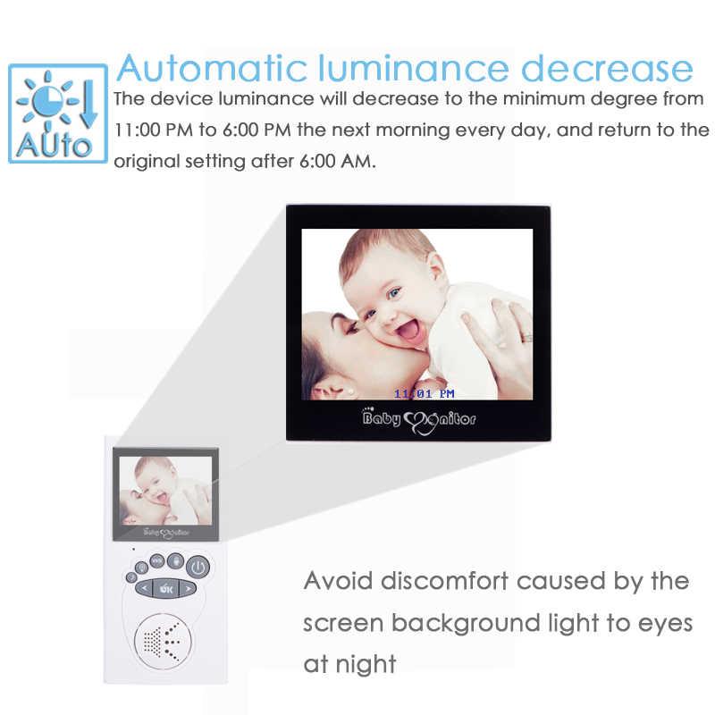 Wireless Baby Monitor 2.40 Inch 2 Way Talk Night Vision LED Video Keamanan Bayi Suhu Perawatan Bayi Layar LCD Kamera