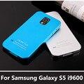 Esteiras caso tampa da bateria para galaxy s5 ultrafino de alumínio do metal para samsung galaxy s5 i9600 telefone bag matte luxo superfície