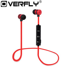 Magnet Metal Sports Bluetooth Earphone Wireless Earbud Stereo Headset With Mic Neckband Headset Portable for iPhone 7 S8