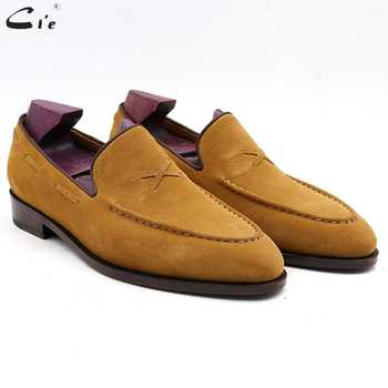 cie mens loafer breathable genuine calf leather handmade mens elegant slip-on casual flats brown boat luxury suede shoes No.19 - DISCOUNT ITEM  18% OFF All Category