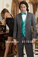 mens suits wedding groom wear dress custom made cheap suits for charcoal grey tuxedo free shipping