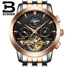 2017 luxury men s font b watch b font BINGER brand Mechanical Wristwatches sapphire full stainless