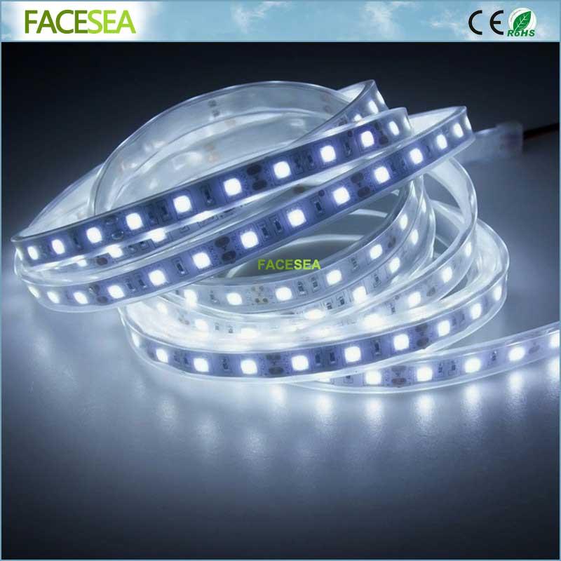 5M / tekercs DC12V LED-szalag vízálló ip67 SMD5050 RGB 60LED / m - LED Világítás