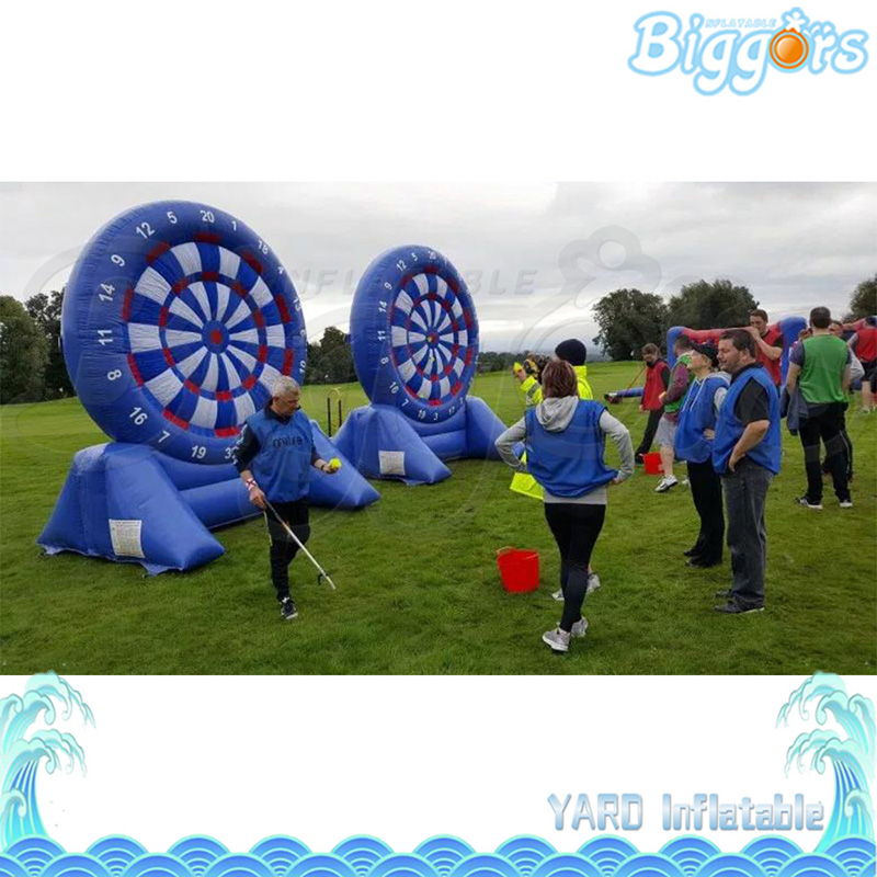 Chinese Factory Direct Giant PVC Inflatable Football Darts Game Air Blower Included game darts legering metalen wapen model draaibaar darts cosplay props voor collectie fidget spinner hand anti stress