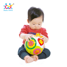 HUILE TOYS 938 Babyspeeltjes Toddler Crawl Toy met muziek en licht Teach Shape / Number / Animal Kids Early Learning Educatief speelgoed cadeau