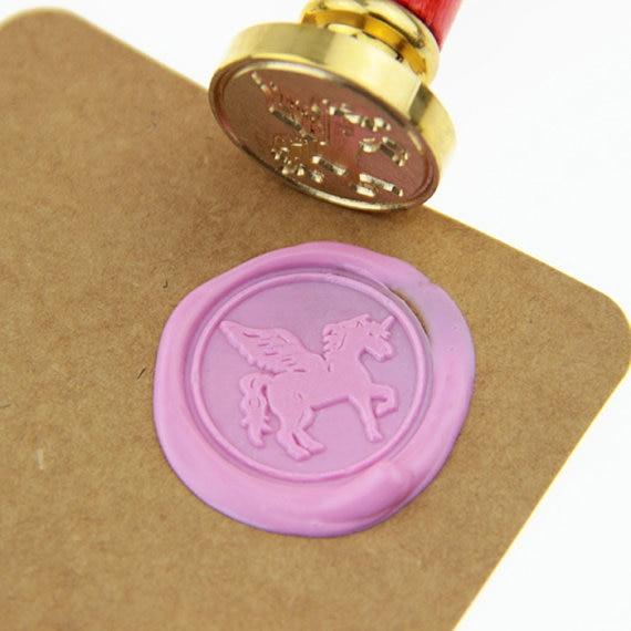 Unicorn Wax Seal Stamp Creative Mythical Creature Logo Wedding Set