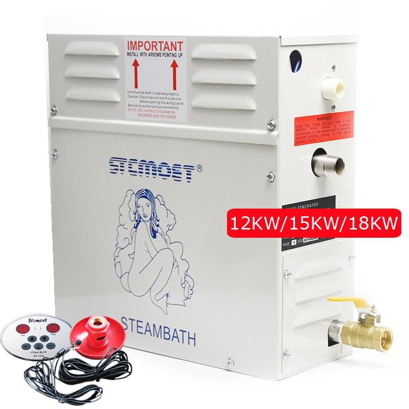 Steam Generator for Shower 220V/380V 12KW/15KW/18KW Home Steam Machine Sauna Bath SPA Steam ShowerRoom Steaming Machine