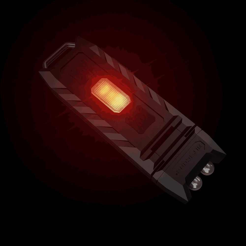 Originele USB Oplaadbare Nitecore DUIM Wit en rood dual kleur verlichting draagbare Zaklamp Zaklamp 120 graden kantelbaar hoofd