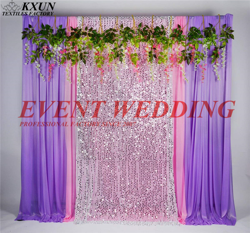 Wholesale Price Ice Silk Sequin Wedding Backdrop Curtain Stage Background With Branch Event Party DecorationWholesale Price Ice Silk Sequin Wedding Backdrop Curtain Stage Background With Branch Event Party Decoration