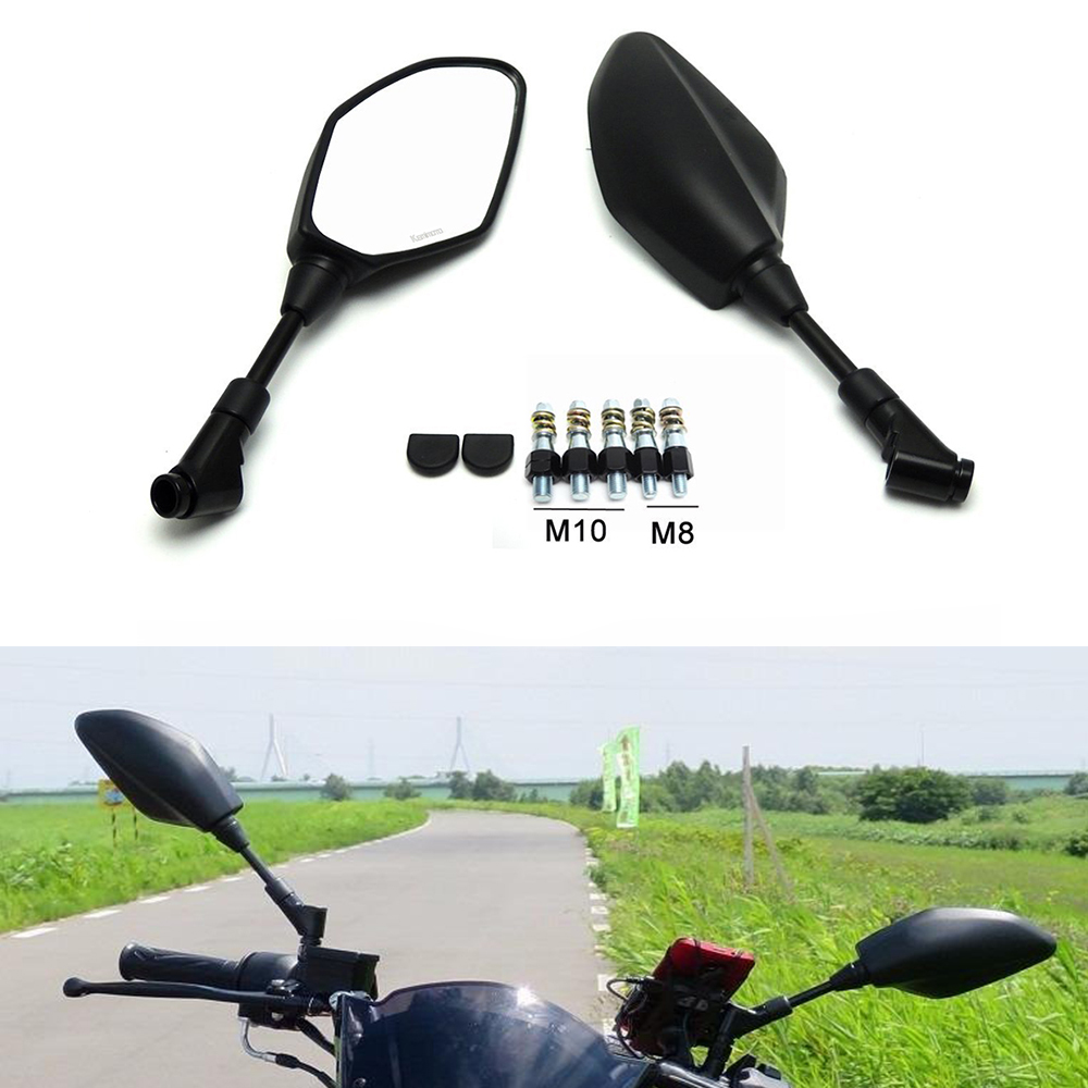 Motorcycle Rearview Rear View Side Mirrors for For BMW F800GS F650GS F800R For YAMAHA YZF R1 R6 MT09 MT07 FZ1 R3 R25 For SUZUKI Motorcycle Rearview Rear View Side Mirrors for For BMW F800GS F650GS F800R For YAMAHA YZF R1 R6 MT09 MT07 FZ1 R3 R25 For SUZUKI