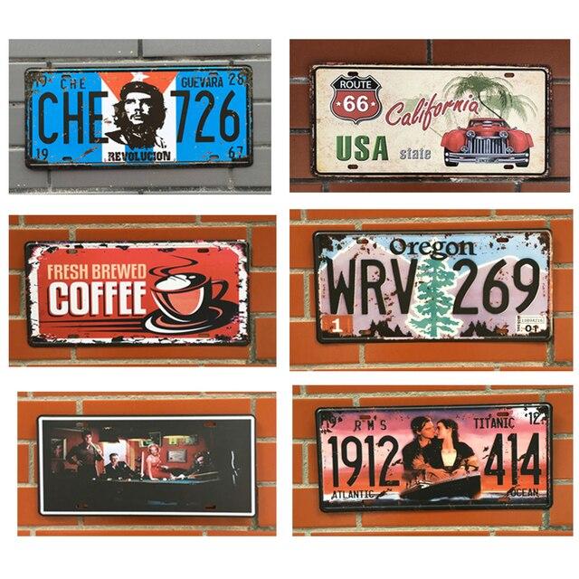Car Retro Art License Metal Plate