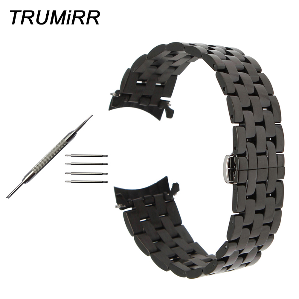 20mm 22mm 24mm Stainless Steel Watchband Curved End Strap for Diesel Men Women