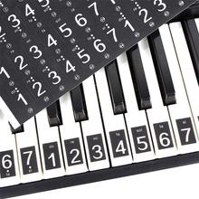61 88 Keys Piano Sticker Universal Keyboard Stickers Black Decal Electronic Stave Note For White Key