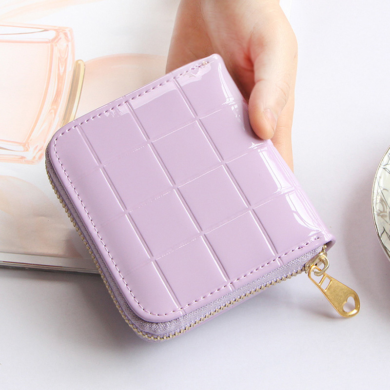 Mini Wallet Women Small Wallet Famous Brand Coin Purse High Quality Patent Leather Short Zipper Wallets Female Minimalist Wallet 2017 genuine cowhide leather brand women wallet short design lady small coin purse mini clutch cartera high quality