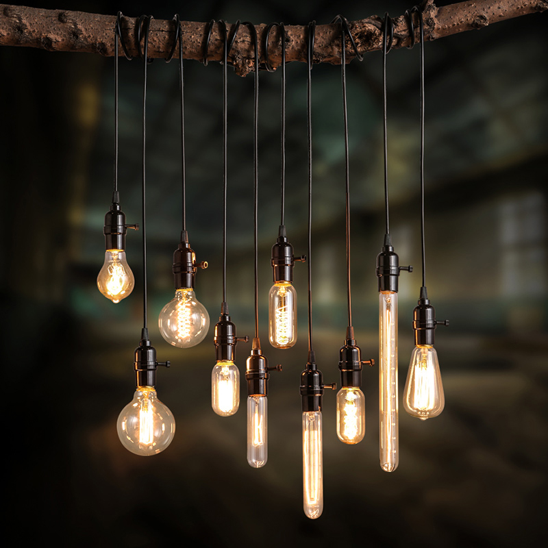 Modern pendant lights loft vintage lamp industrial home lighting e27 220v for decor lampshade edison bulb lustre luminaire avize in pendant lights from