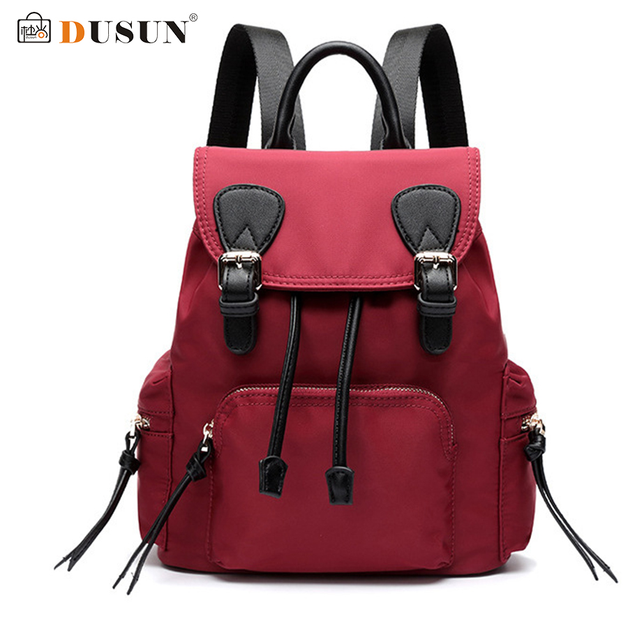 DUSUN Canvas Backpack Women Vintage School Bags Ladies Fashion Student Bag Female 2017 Brand Travel Bags Woman Winter Bolsa New dy0606 ladies bag 15inch women backpack suit for 14 15 notebook laptop bag student school bag travel mountaineering bag