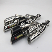 Motorcycle Scooter Exhaust Muffler Pipe Modified stainless steel Exhaust Muffler Tail pipe with DB Killer Akrapovic for Kawasaki akrapovic motorcycle exhaust db killer exhaust muffler and stainless steel middle link pipe whole set for honda cbr500 300r