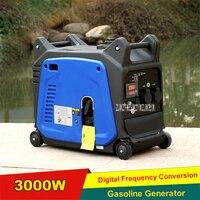 XY157F цифровой преобразователь бензиновый генератор Silent Портативный Кемпинг бытовой бензин генератор 3000 Вт 220 В 3000r/мин 5.7L