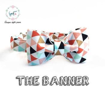 Le collier de chien bannière colorée avec noeud papillon matel boucle collier chien et chat accessoires pour animaux de compagnie