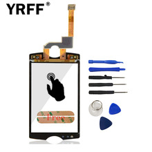 New For Sony Ericsson Xperia mini ST15 ST15i Front Outter Digitizer Touch Screen Glass Lens Sensor + Adhesive Tool Free Shipping