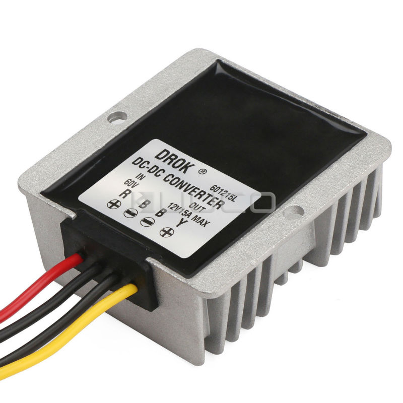 цена на Car Converter DC 60V(20V~72V) to 12V 15A 180W Buck Power Supply Module/Power Adapter/Voltage Regulator/Driver Module Waterproof