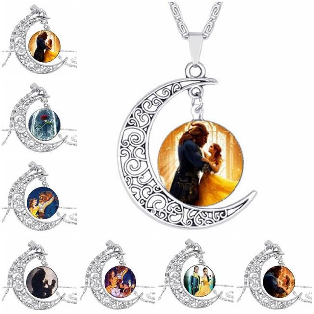 High quality wholesale glass picture pendant beauty and the beast high quality wholesale glass picture pendant beauty and the beast necklace rose glass pendant art pendant aloadofball Gallery