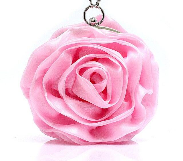 Roxo Rosa Vermelho Ouro Marfim Linda Flor Rosa Saco De Noite Da Mulher Sacos de Embreagem Bolsa de Noiva Partido Mini Bag SMYBK-A001