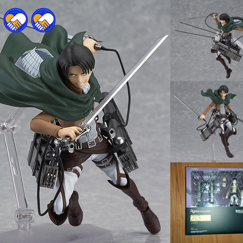 A toy A dream Attack on Titan Shingeki no Kyojin Rivaille Figma 213 Boxed PVC Action Figure Model Collection Toy 6 14CMA toy A dream Attack on Titan Shingeki no Kyojin Rivaille Figma 213 Boxed PVC Action Figure Model Collection Toy 6 14CM