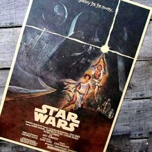 Star Wars 3 retro nostalgia Kraft paper, old poster Bar hangs a picture Science fiction adornment picture Wholesale and retail