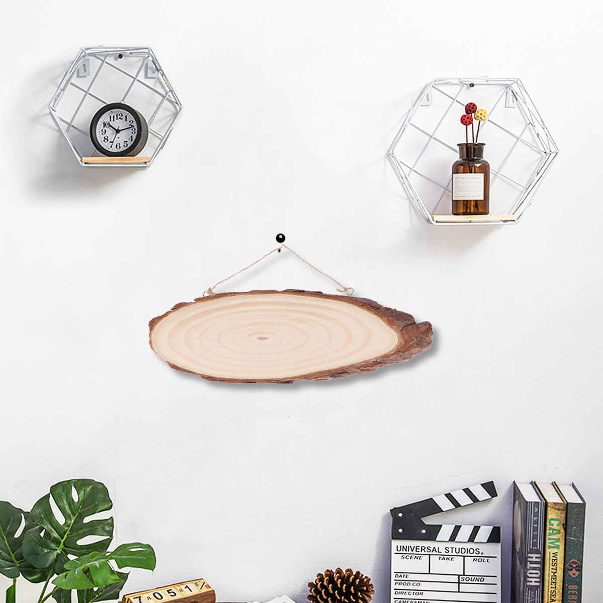 22x7 centimetri Ovale In Bianco del Disco di Legno Albero Log Fetta di Targhe Con 2 Ganci E Corda Per La Decorazione di DIY progetti di artigianato