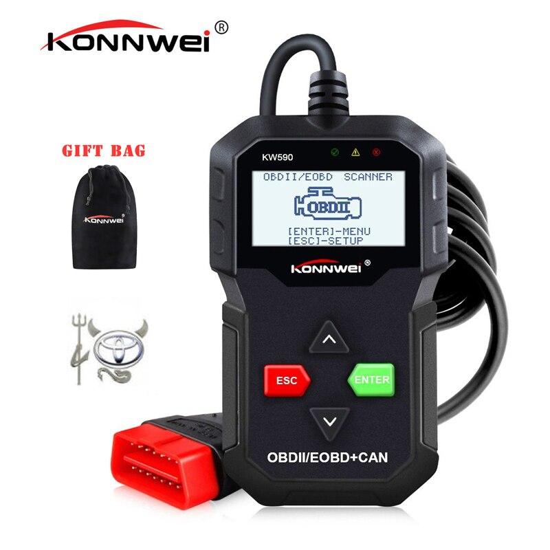 Beste ODB OBD2 Scanner KONNWEI KW590 OBD2 Auto Diagnose Scanner Multi-sprachen OBD2 Autos scanner in Russische Besser Als AD310