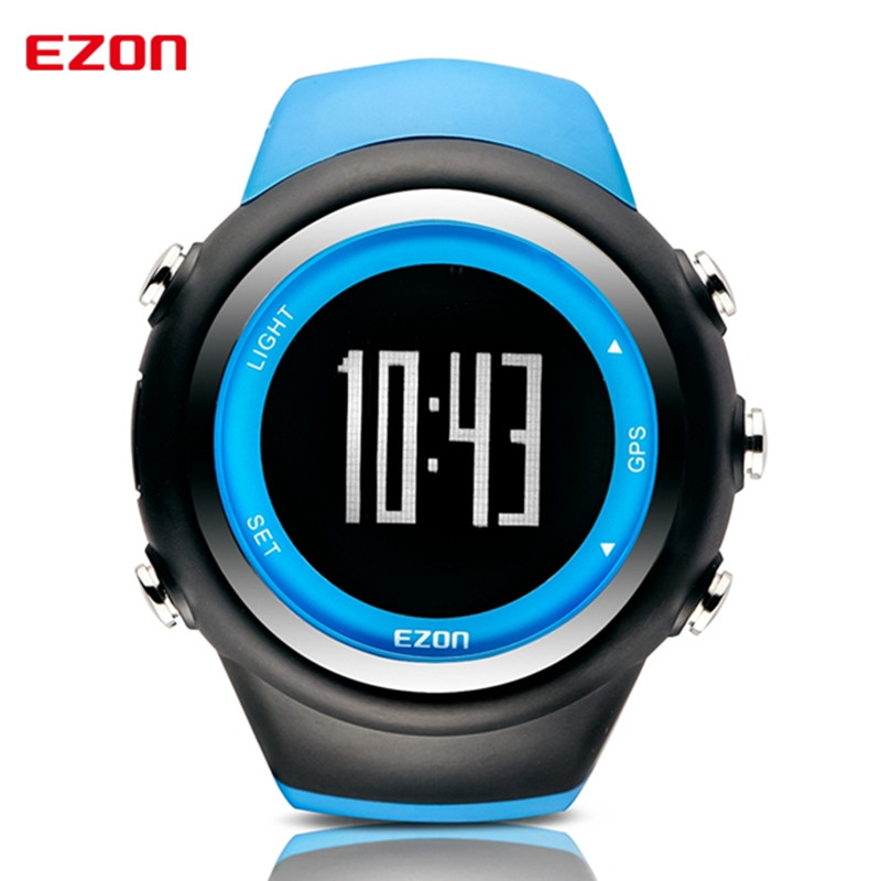 2017 Men Watches Luxury Brand GPS Timing Running Sports Watch Calorie Counter Digital Watches EZON T031 ezon outdoor sports for smart gps watches running male multifunctional 5atm waterproof electronic watch g1 black