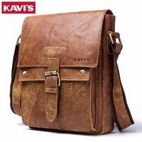 KAVIS Messenger Bag 2018 New Spring Men Shoulder bag Genuine Leather Small Male Man Crossbody bags for Famous Brands Handbags