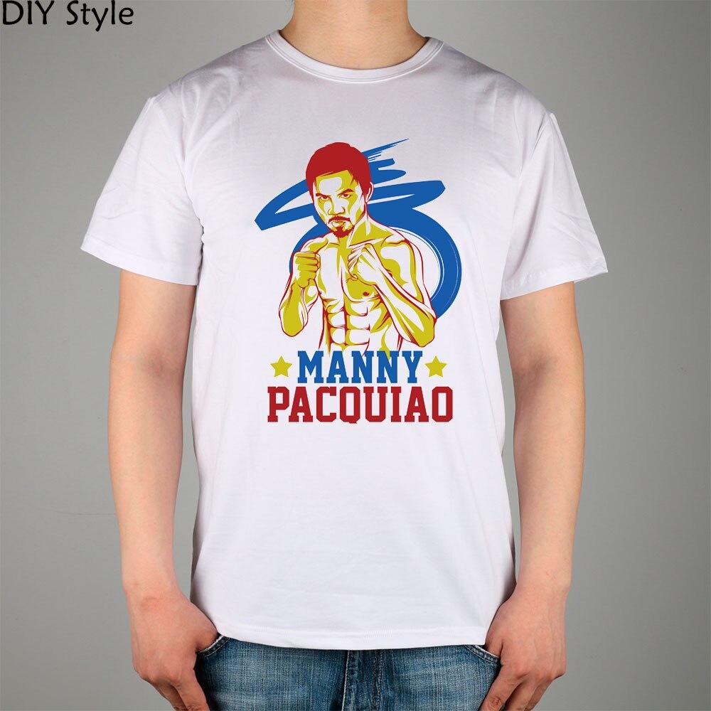 Manga Algodón Corta Nuevo Hombres Pacman Manny Lycra Camiseta Top Pacquiao drxWQoCeB