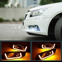 Hireno Süper-parlak LED Gündüz Koşu Işık için Chevrolet Cruze 2010 2011 2012 2013 2014 Araba LED DRL sis lamba 2 ADET