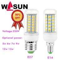 1 шт. 2016 полный новый LED лампа E27 E14 3 Вт 5 Вт 7 Вт 12 Вт 15 Вт 18 Вт 20 Вт 25 Вт SMD 5730 Кукуруза лампа 220 В люстра светодиоды Свечи Прожектор