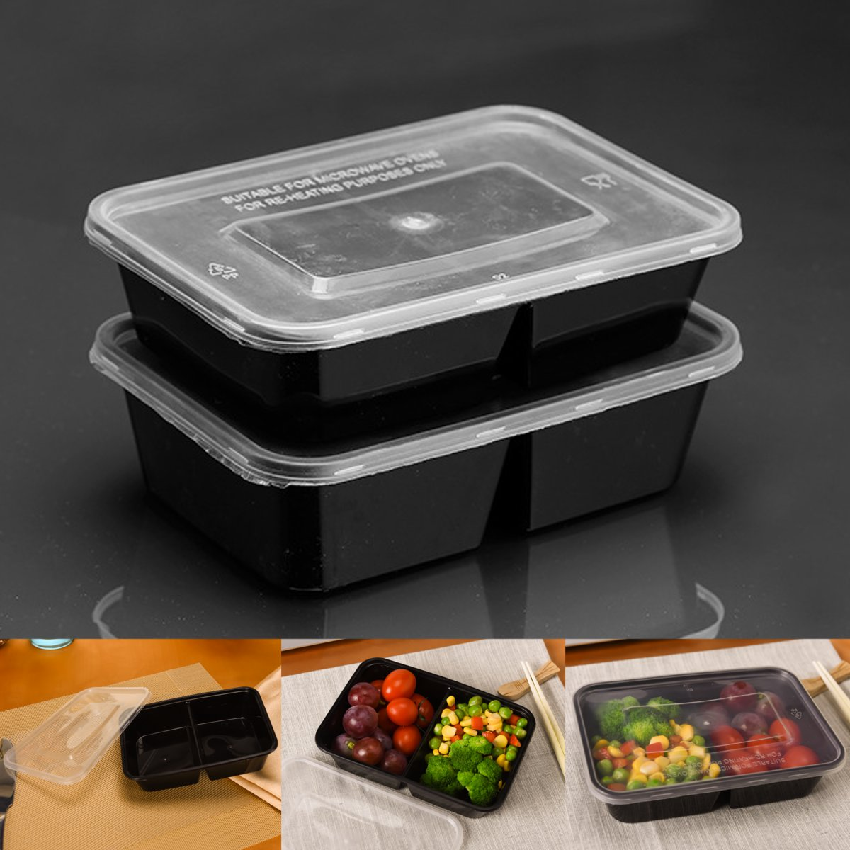Plastic Food Storage Box 10pcs 500ml Meal Prep Containers