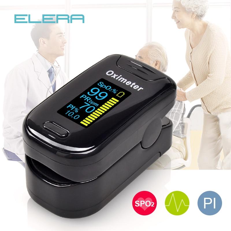 ELERA Finger Pulse Oximeter Blood-Oxygen SPO2 Saturometro Portable PR