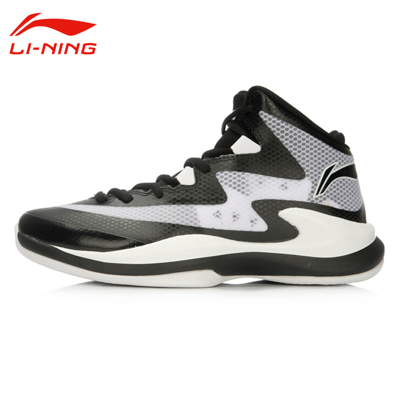 Li-Ning Men's Outdoor Lace-Up Breathable Basketball Shoes Li Ning Cushioning Wear-Resisting Anti-Slip Sports Sneakers ABFL011