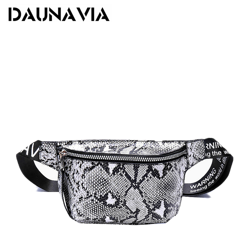 DAUNAVIA Serpentine Chest Bag Lady Fashion Designer Belt Chest Package Mini Diagonal Women's Bag Luxury Belt Package Waist Pack