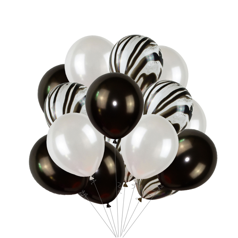 Black Gold Happy Birthday Banner Balloons With Helium Number Foil Balloon for Baby Party Decorations 14