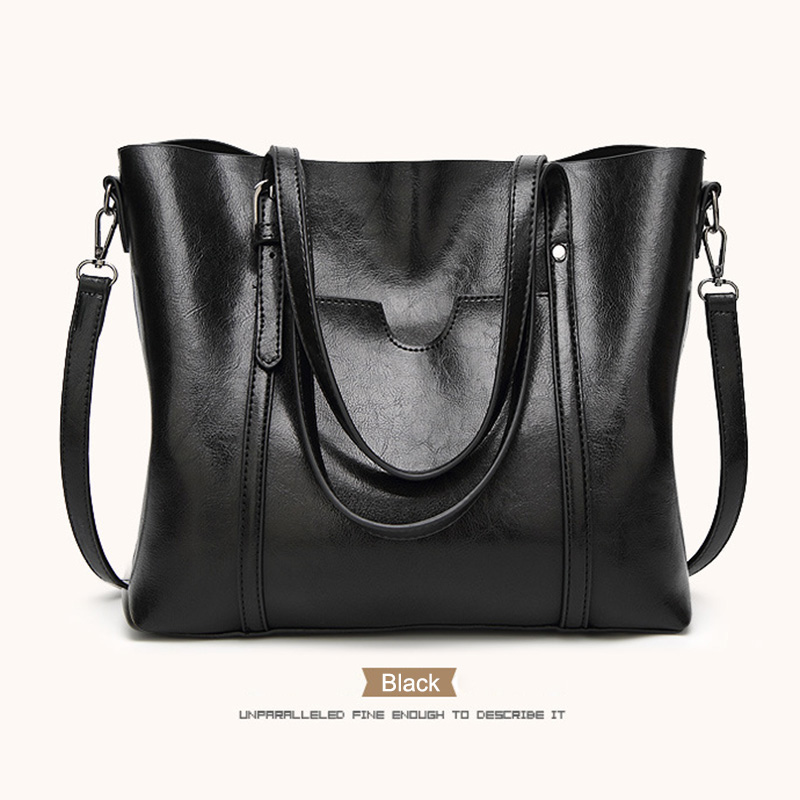 Women European And American Style Wax  Leather  Handbag Vintage Shoulder Bags Shopping Case LT88